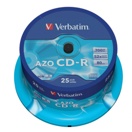 Verbatim CD-R 52x 700MB Extra Protection Cakebox 25