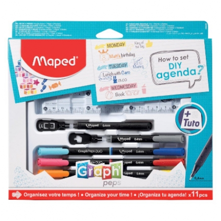 "Maped ""How to agenda""-set, 11-delige"