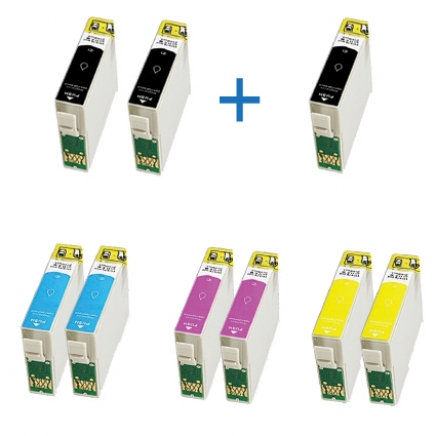 Compatible - Epson T1295 DUO pack + 1 zwart extra