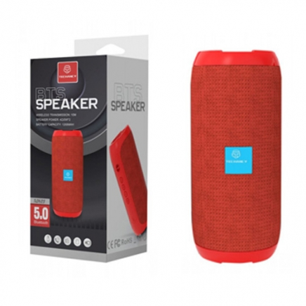 TECHANCY BTS Bluetooth Speaker rood